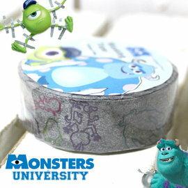 日潮夯店 日本正版 日本製 怪獸大學monsters university 大眼仔/毛怪 日本和紙紙膠帶 灰色彩線條