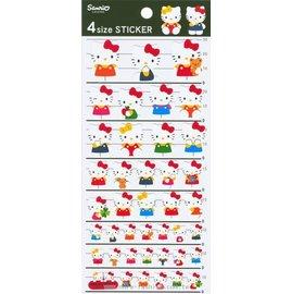 日潮夯店 日本正版 Hello Kitty 凱蒂貓 4 Size 紙 貼紙 裝飾 卡片 包裝