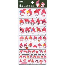 日潮夯店 日本正版 Melody 美樂蒂 4 Size 紙 貼紙 裝飾 卡片 包裝