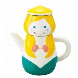 日本進口 童話風格 SUNART TEA FOR ONE 小美人魚 茶壺茶杯組