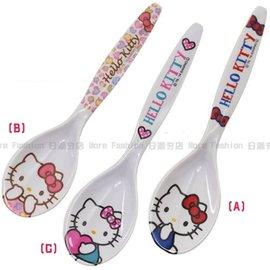 日潮夯店 日本正版 Hello Kitty 凱蒂貓 大口徑 設計 湯匙 湯杓 耐熱100度C