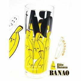 日潮夯店 日本製 日本正版 BANAO 香蕉先生 ??夫 玻璃 水杯 果汁杯 推薦! 超可愛!