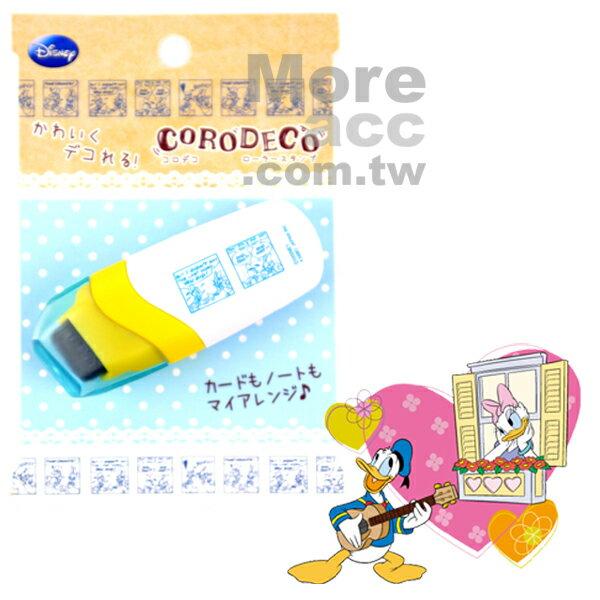日本正版進口 Disney 迪士尼 唐老鴨 黛西卡片 裝飾 漫畫 滾輪花邊印章