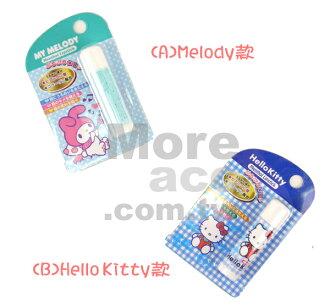 [日潮夯店] 日本正版進口 Hello Kitty 凱蒂貓 Melody 美樂蒂 隨身 保濕 薄荷護唇膏