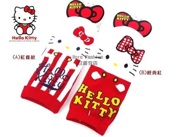 日潮夯店 日本正版Hello Kitty 凱蒂貓 立體 耳朵造型 大人可穿 船形 襪子 短 襪子23~25cm