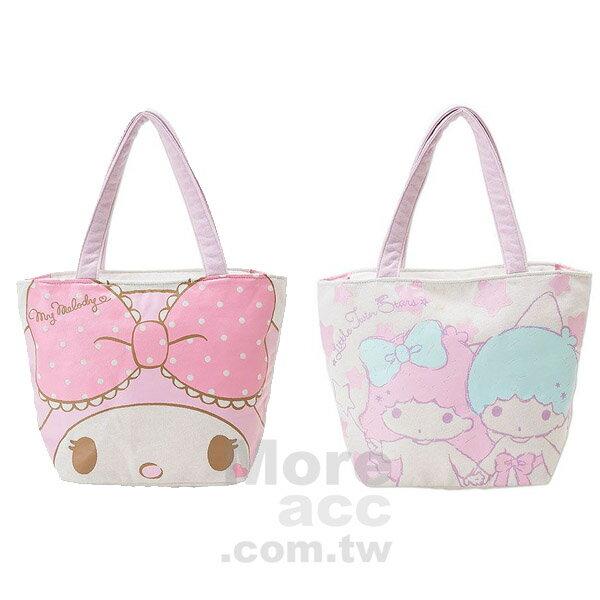 [日潮夯店] 日本正版進口 Sanrio三麗鷗 美樂蒂 雙子星 肩背包 手提袋 棉布袋 共兩款