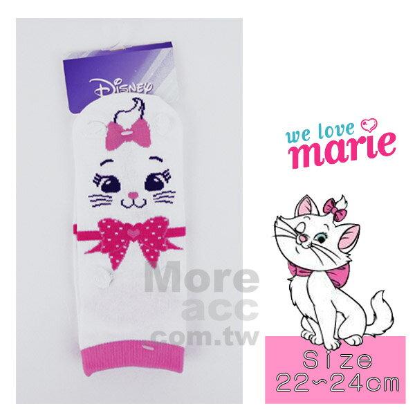 [日潮夯店] 日本正版進口 迪士尼 DISNEY 瑪莉貓 marie 立體 耳朵 小手 短襪 襪子 22~24cm