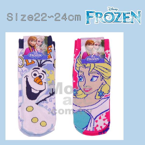 [日潮夯店] 日本正版進口 迪士尼 DISNEY 冰雪奇緣 FROZEN 雪寶 安娜 艾莎 短襪 襪子 22~24cm