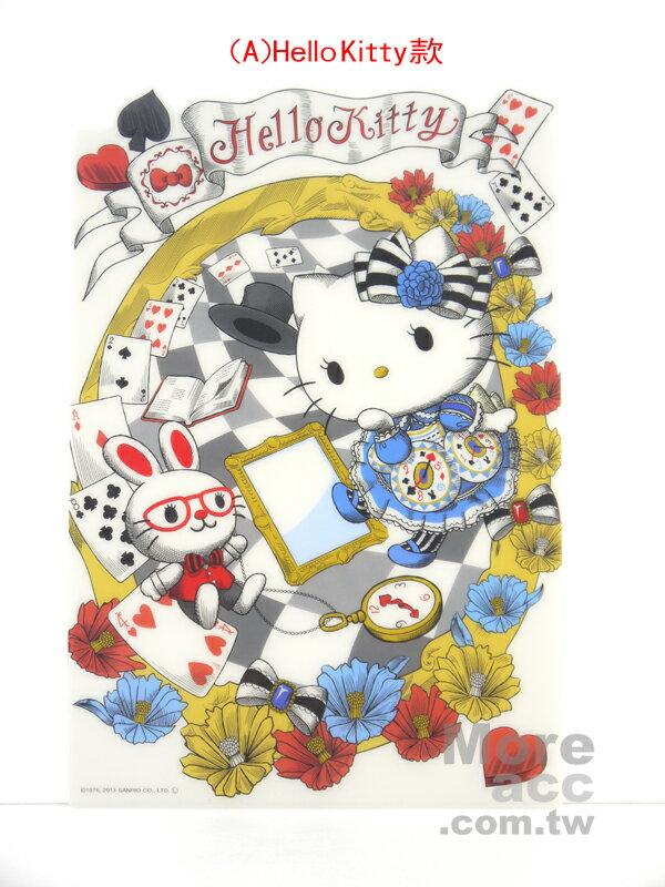 日本正版進口_Hello Kitty凱蒂貓 Melody美樂蒂 愛麗絲 夢幻 半透明墊板