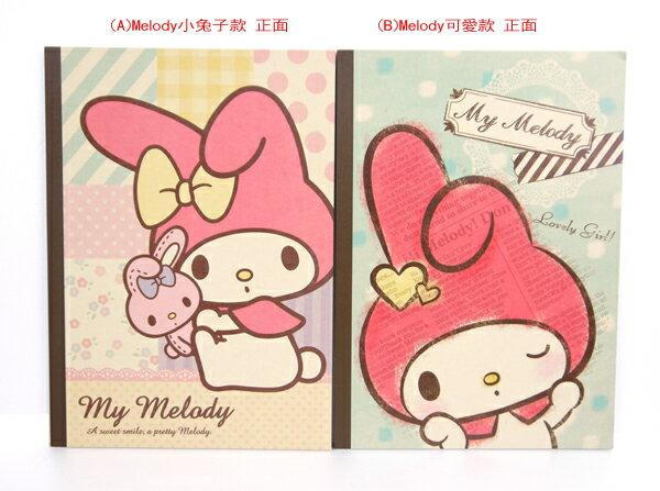 日本正版進口_可愛夢幻Melody 美樂蒂 手札本 筆記本  共2款