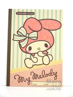 日本正版進口 Melody 美樂蒂 筆記本 英文學習筆記本