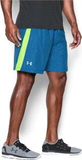 《UA出清6折》Shoestw【1253575-438】UNDERARMOURUA服飾短褲運動褲訓練褲7吋藍螢光綠男生