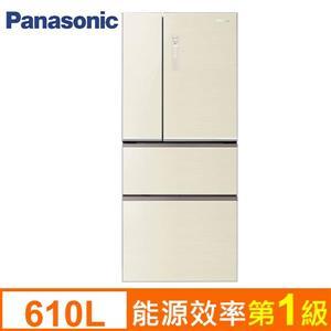 Panasonic 國際牌610L變頻節能四門冰箱 NR-D618NHG-T(翡翠棕)