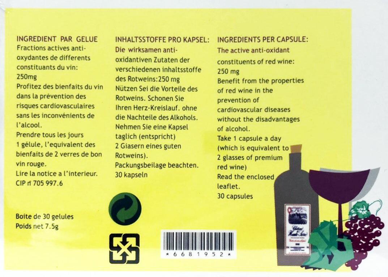 【點數10倍】橡櫟精30粒 / 盒 法國進口 白藜蘆醇 紅酒多酚 3