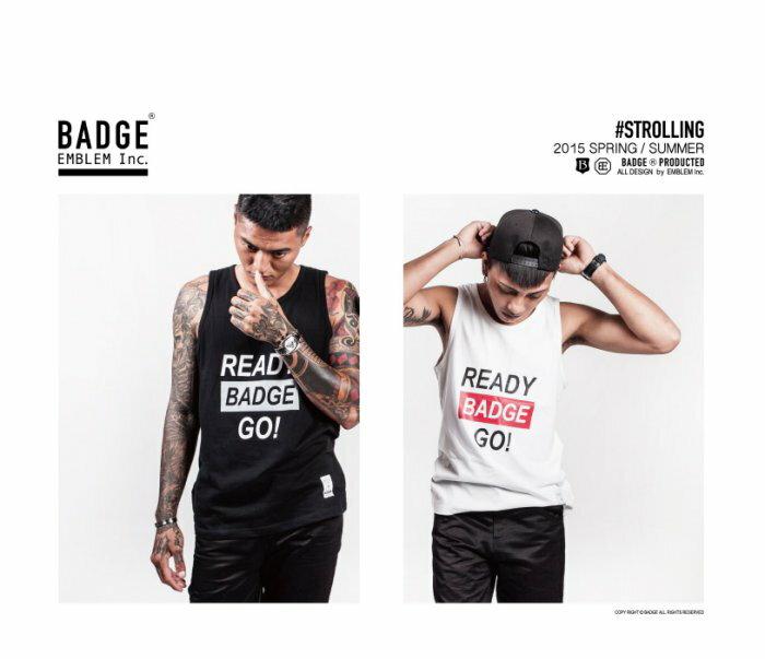 "[BADGE網路直營商店]2015 S/S ""strolling"" muscle shirt ready背心(黑)"