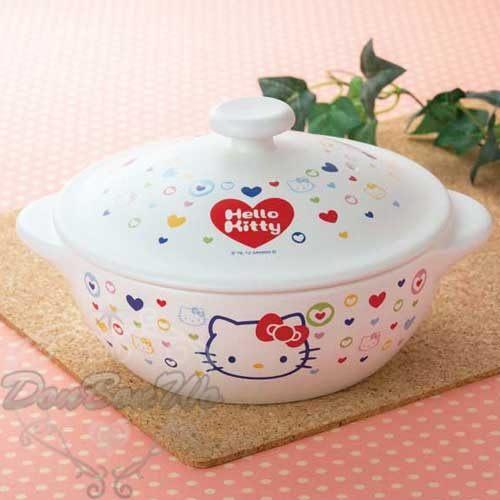 KITTY陶瓷鍋土鍋耐熱愛心邊框系列471518海渡