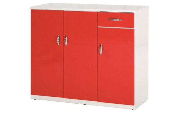 【石川家居】864-06(紅白色)鞋櫃(CT-314)#訂製預購款式#環保塑鋼P無毒防霉易清潔