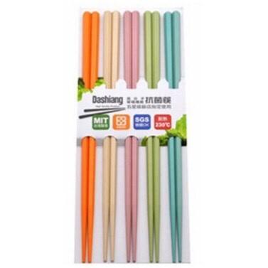 台灣製 玻璃纖維筷 台灣製高品質合金筷 六角筷(五彩)