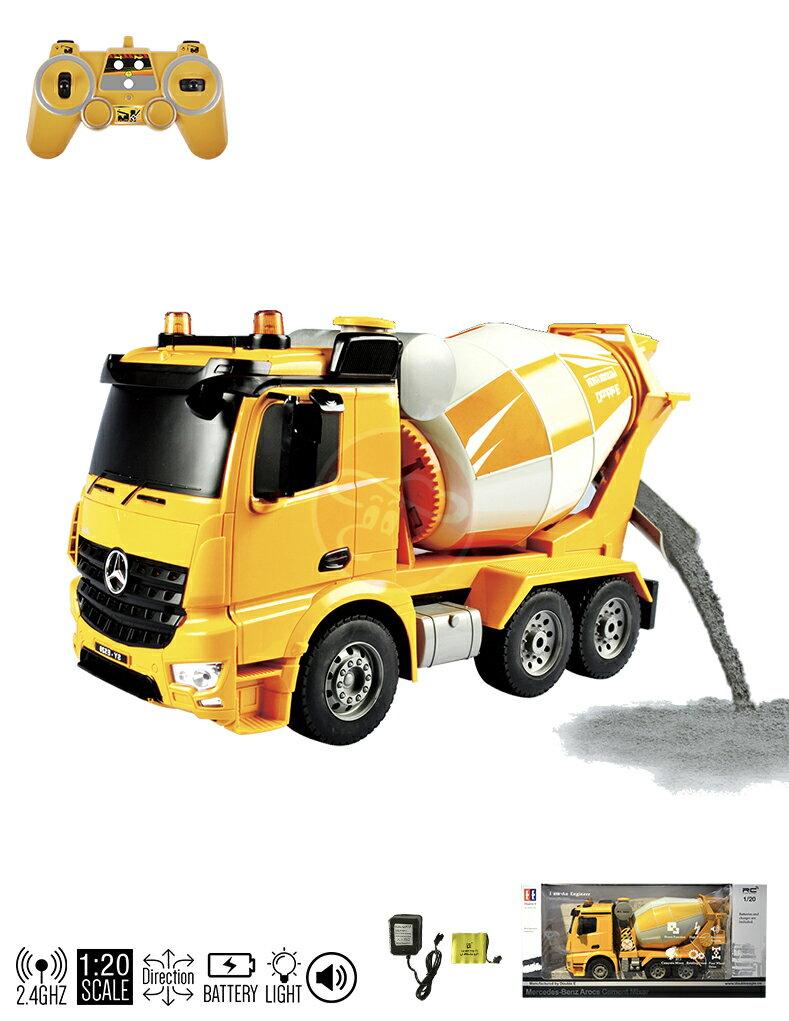 【型號E528-003】 2.4G遙控1:20賓士授權混凝土攪拌車