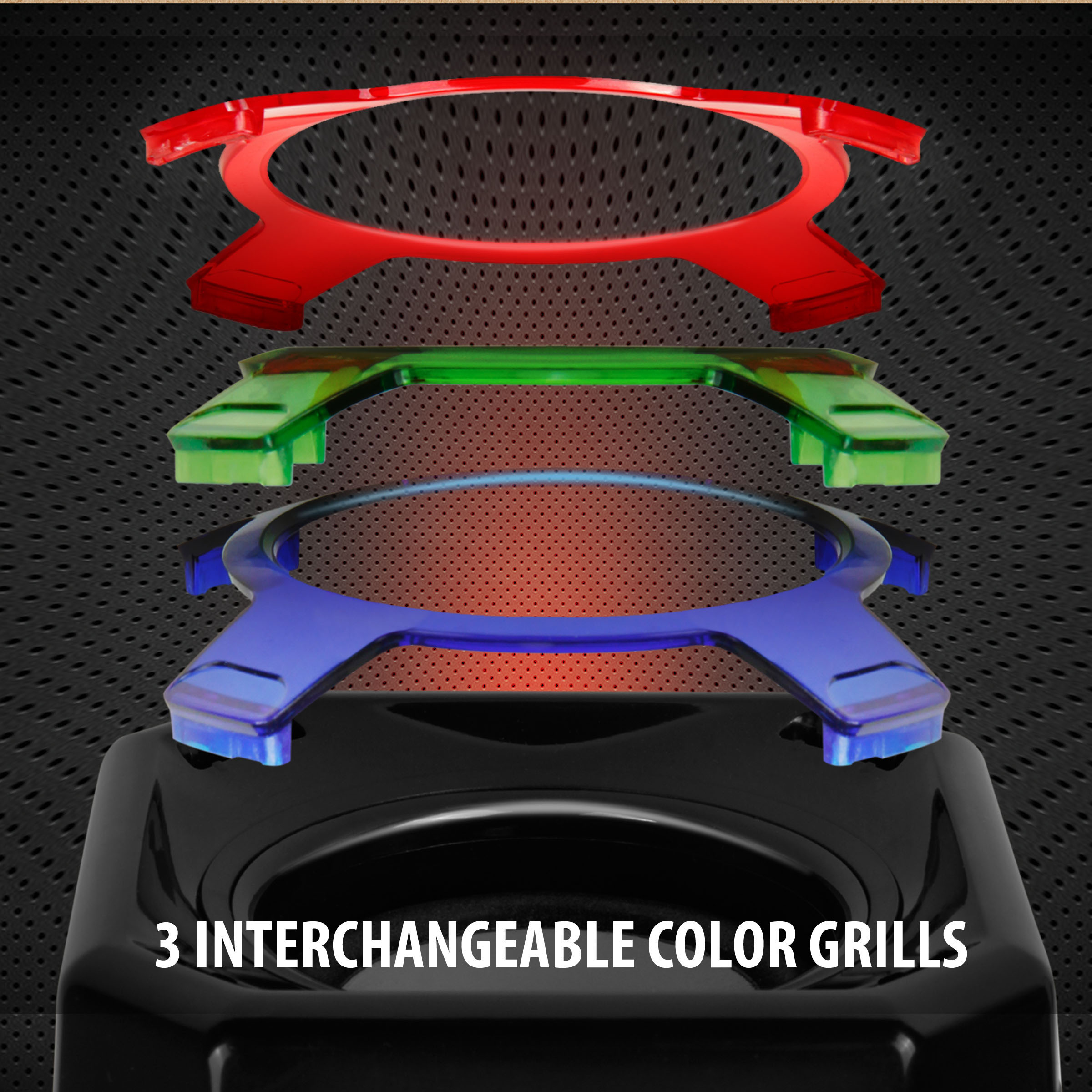 GOgroove SonaVERSE GS3 USB Gaming Speakers with Interchangeable Grills & Powerful 5W Drivers 2