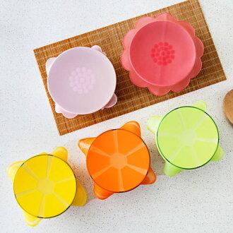 PS Mall 水果花朵食品級矽膠保鮮蓋 透明密封蓋【J601】
