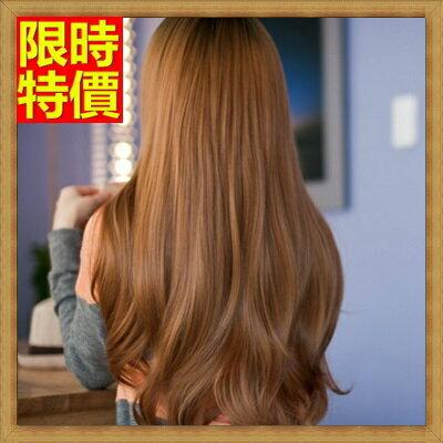 ~女假髮 整頂假髮 長假髮~ 微捲長捲髮齊瀏海女美髮用品4色69o24~ ~~米蘭 ~