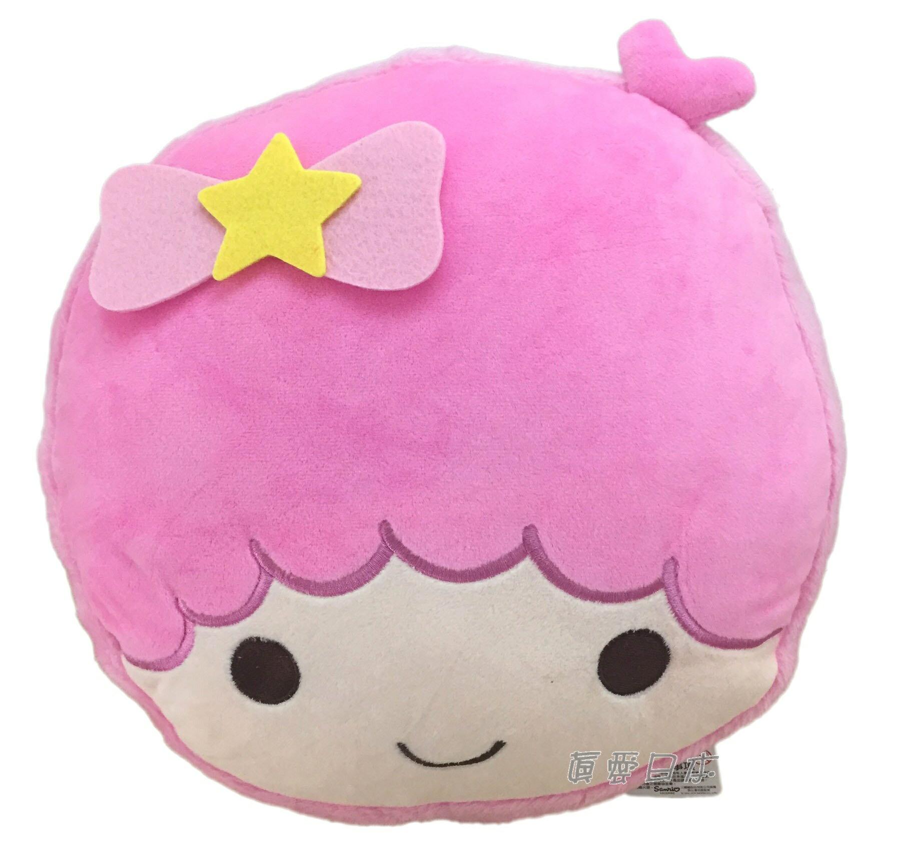 【真愛日本】16070600018 馬卡龍頭型抱枕-LALA   三麗鷗家族 Kikilala 雙子星 娃娃 抱枕  靠枕