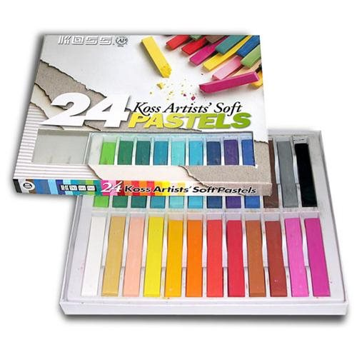 Pastel Chalk Set Has 24 Soft Chalks Perfect For Art Projects, Scrapbooking, Stamping and Other Creat