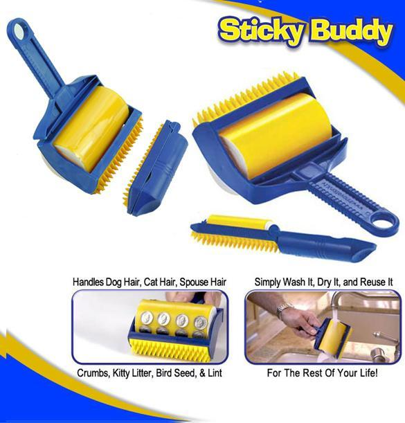 Reusable Sticky Roller Remover Brush Picker Clothes Fluff Cleaner Lint 5