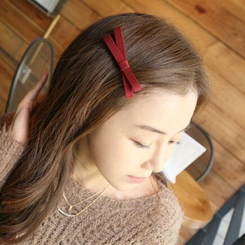 韓版頭飾-布藝蝴蝶結髮夾 瀏海夾 髮飾 鴨嘴夾