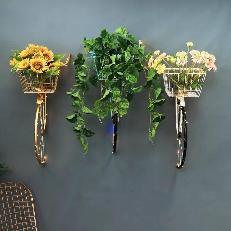 【三福百貨】復古鐵藝壁飾奶茶店咖啡廳酒吧牆壁裝飾自行車掛件仿真自行車壁掛