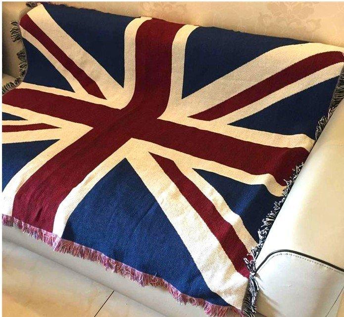 ☆ 寰宇歐洲風 大不列顛日不落風格 英國國旗 120*150 CM 沙發毯/桌巾/蓋毯