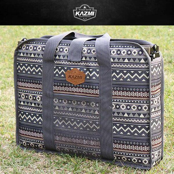 【露營趣】KAZMIK7T3B004彩繪民族風折疊桌收納袋(43x32x9cm)裝備袋收納袋折疊桌休閒桌適用K7T3U010