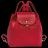 LONGCHAMP Le Pliage Cuir 女士系列粉红色羊皮超小號雙肩包 L1306737018 2