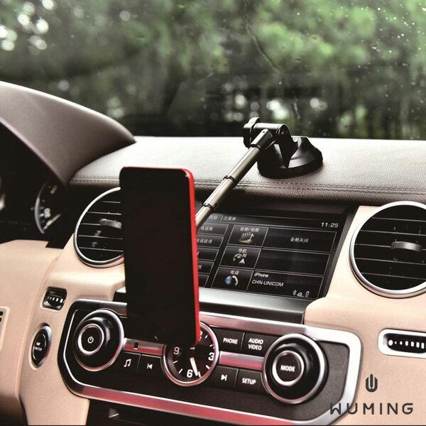 360度旋轉伸縮車用支架鋁合金手機免持導航吸盤iPhoneXSXROPPOFindXNote9S9R17『無名』N09103
