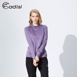 ADISI 女小高領彈性刷毛保暖衣AL1621138 (S~2XL) / 城市綠洲專賣(吸濕排汗、舒適透氣、輕量柔軟、戶外休閒)