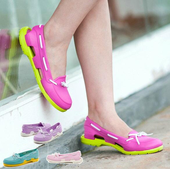 一體成型防水鏤空帆船鞋 果凍鞋(現貨+預購)