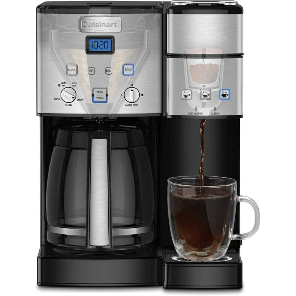 Buydig Cuisinart 12 Cup Coffee Maker And Single Serve Brewer