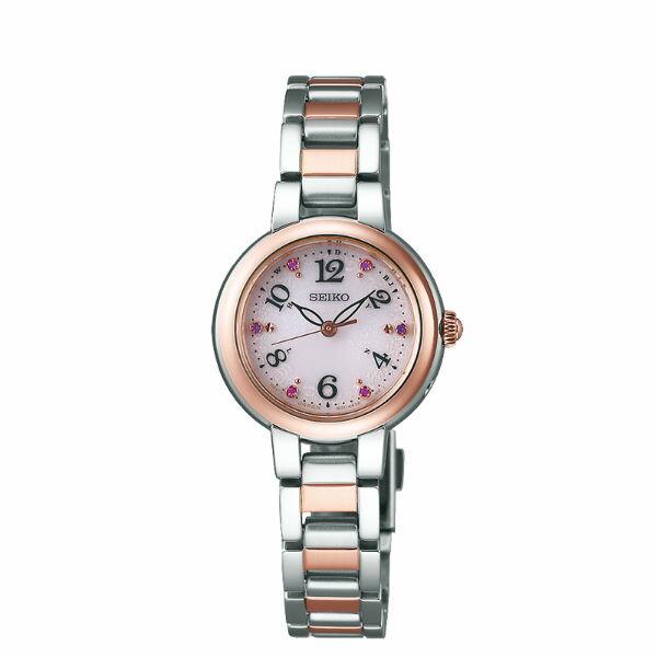 SeikoVivace1B21-0AM0KS(SWFH050J)簡約優雅太陽能電波腕錶藍面26mm