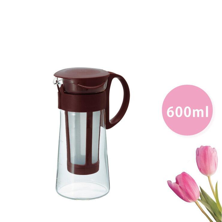 HARIO 迷你冷泡咖啡壺-咖啡色 600ml/MCPN-7CBR