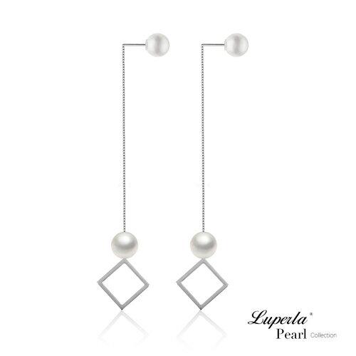 大東山珠寶 燦爛光芒 日本AKOYA天然海水珍珠純銀耳環 雙珠耳線兩用款 5