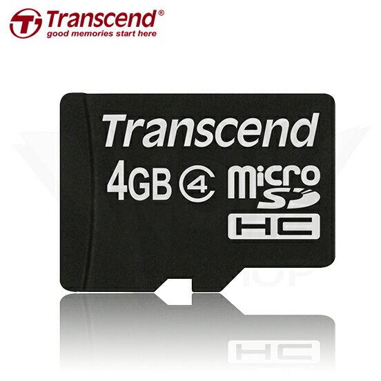 Transcend 4GB microSDHC Class 4 記憶卡