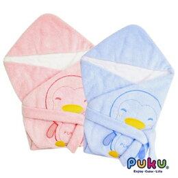 PUKU藍色企鵝秋冬暖暖包巾