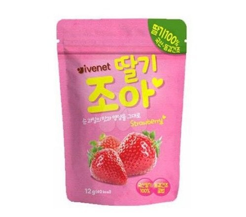 韓國 ivenet 艾唯倪 果乾粒-草莓  【紫貝殼】