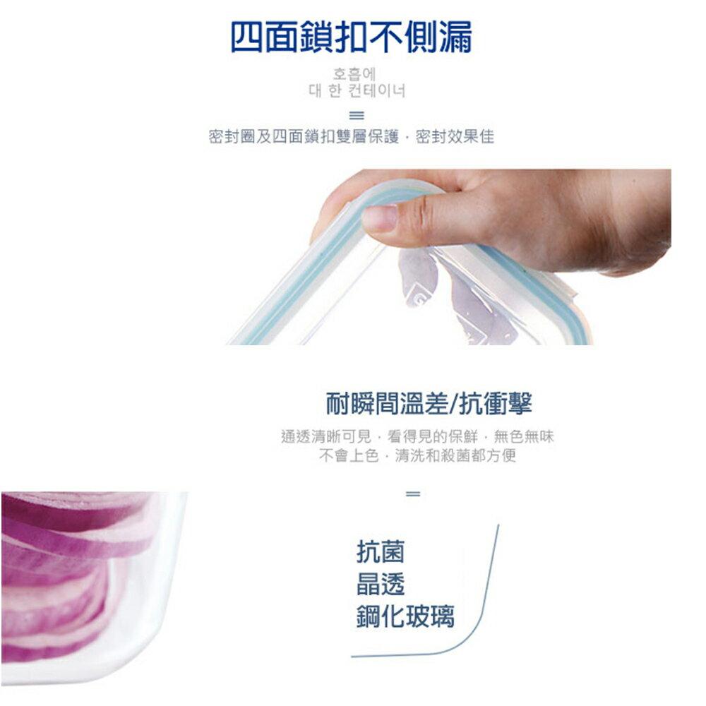 Glasslock 強化玻璃保鮮盒 - 家庭大容量6件組/韓國製造/可微波/上班族學生帶飯/儲存收納食材/耐瞬間溫差120度/減塑餐盒 5