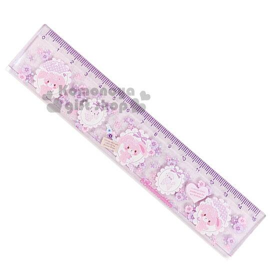 〔小禮堂〕BO蹦蹦兔 日製短尺《紫.花.貴賓狗.雨傘》全長15cm
