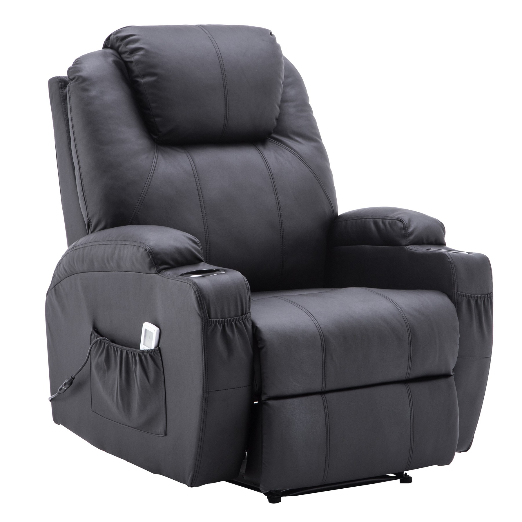 Strange Power Recliner Massage Ergonomic Sofa Vibrating Heated Lounge Chair Faux Leather Dual Cup Holders 7050 Spiritservingveterans Wood Chair Design Ideas Spiritservingveteransorg