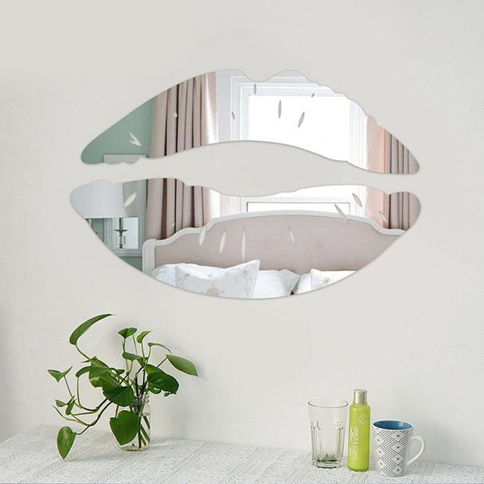 3D Lips Removable Decor Wall and Mirror Sticker 1