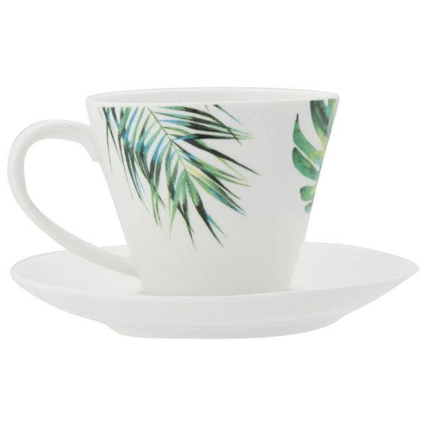 咖啡杯盤組 BOTANICAL A4956F1681+A4957 NITORI宜得利家居 2