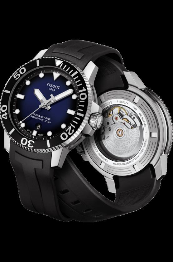 TISSOT 天梭 T1204071704100 Seastar 1000 陶瓷圈 海洋之星300米潛水機械錶 黑 藍 43mm【8 / 15前↘領券再9折,優惠券碼: 2008CP2000B 】 5